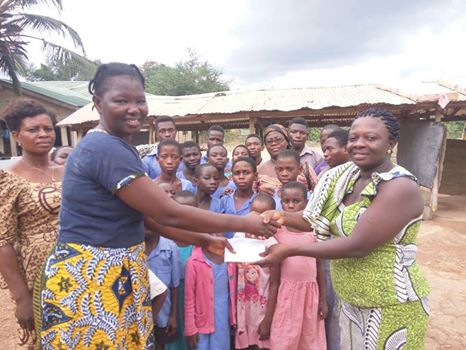 Obuasi Ladies of Marshall supportsRUSFORD